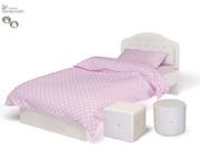 Кровать классика Princess №1, белое или роз изголовье