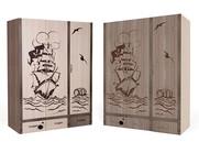 Шкаф 3-х дверный Pirat комбинированный