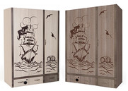 Шкаф 3-х дверный Pirat