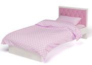 Кровать Фея с кожаным изголовьем со стразами Swarovski