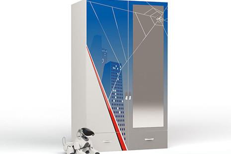 Шкаф 2-х дверный Человек паук с зеркалом